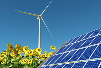 Stationary flywheel systems are used for the short-term storage of solar and wind energy