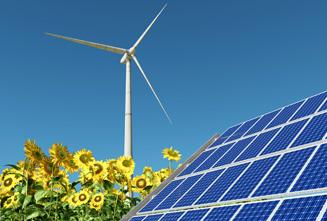 固定飞轮系统用于短期存储太阳能和风能