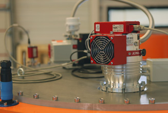 Turbopump, rotary vane pump and Pirani gauge from Pfeiffer Vacuum in use at Levisys