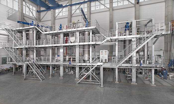 VTA vacuum distillation plant, Photo: VTA GmbH & Co. KG