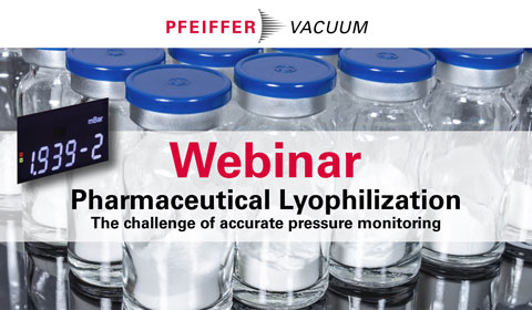 On-Demand Webinar Pharmaceutical Lyophilization - The challenge of accurate pressure monitoring