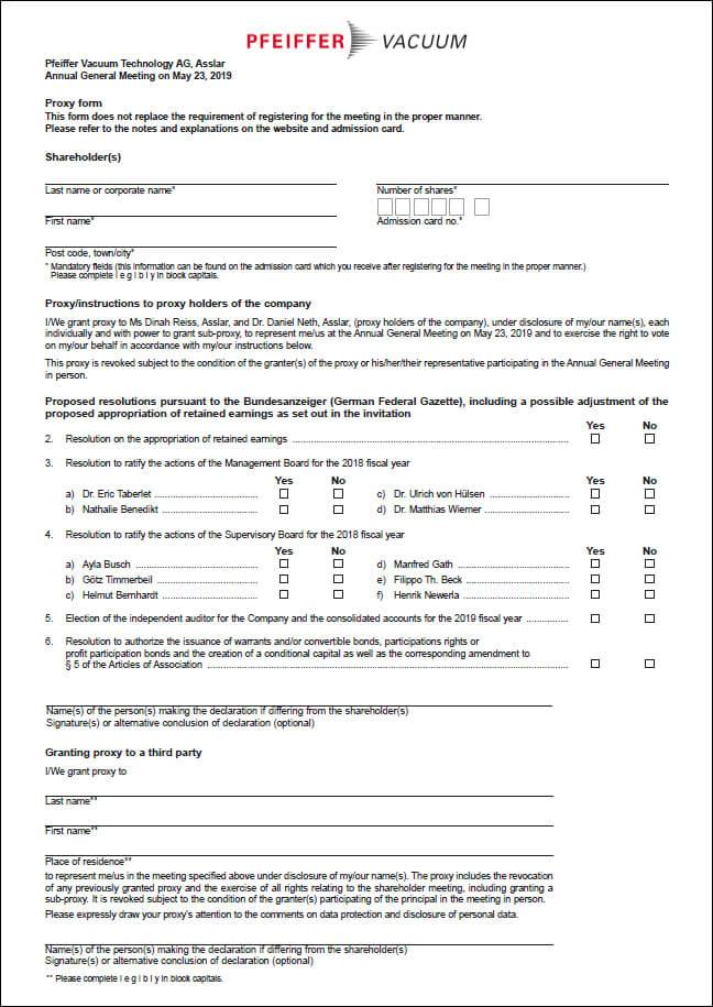 Proxy Form