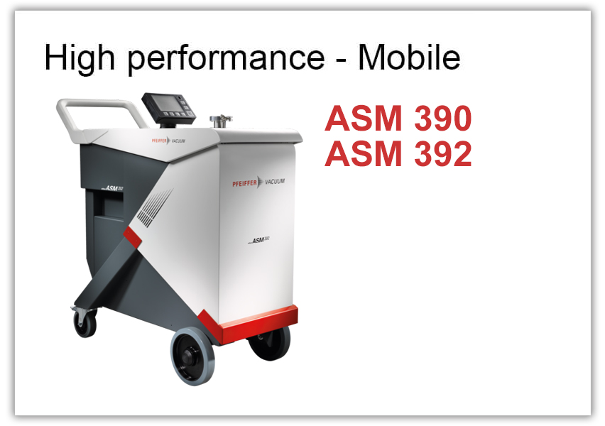 High performance Leak Detector ASM 390 and 392