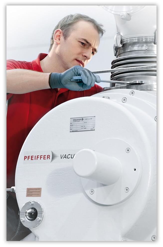 Für Sie entwickelte Vakuumsysteme benötigen qualitativ hochwertigen Service.