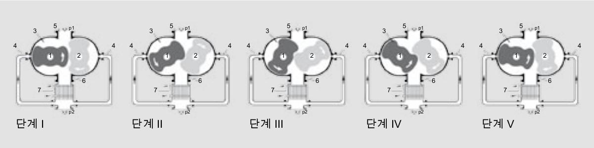 기체 냉각 루츠 펌프의 작동 원리