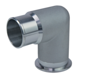 ISO-KF 90° Elbow with Hose Adapter