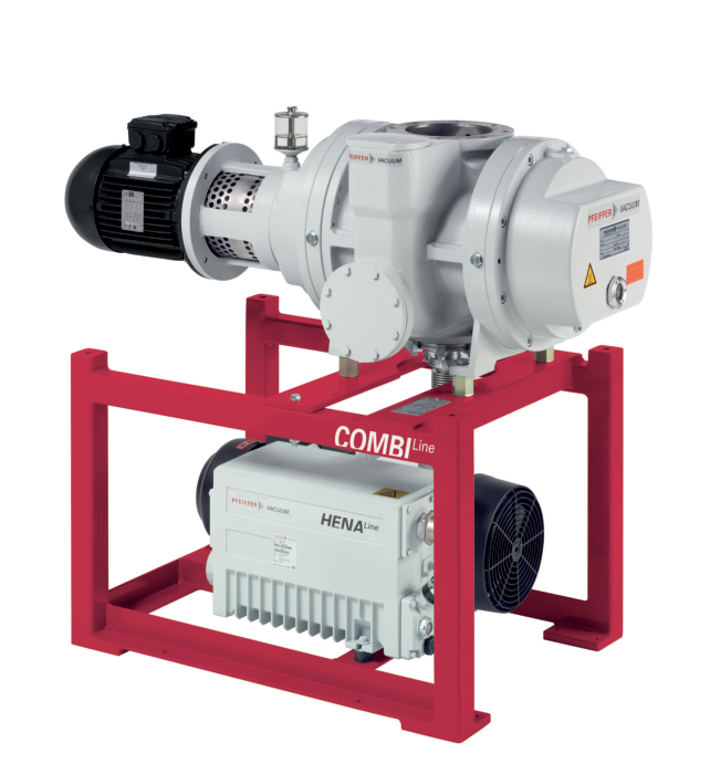 CombiLine WU 942 with Hena 300 single-stage rotary vane pump and Okta 1000 roots pump