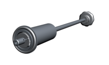 Elastomer-sealed Rotary/Linear Feedthrough Long Version MDD